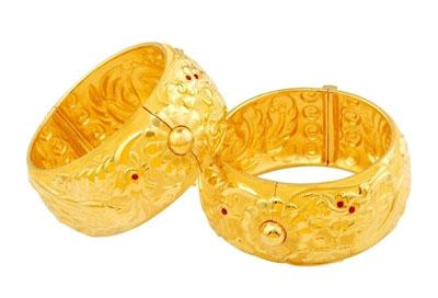 黄金手镯上的每一个花纹都有自己独特意义