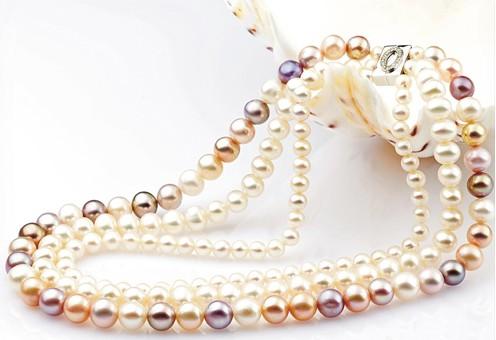 天然珍珠项链的不同色彩与肤色的关系_国际珠