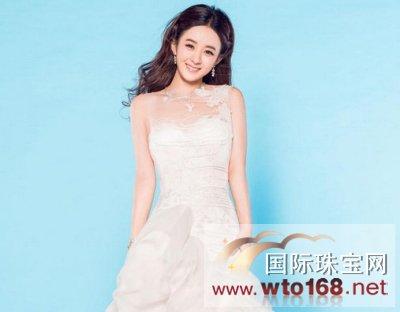 """""""国民甜心""""赵丽颖为《时尚新娘》拍摄了""""蓝色海洋"""