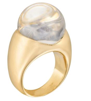 18k黄金珍珠钻石戒指