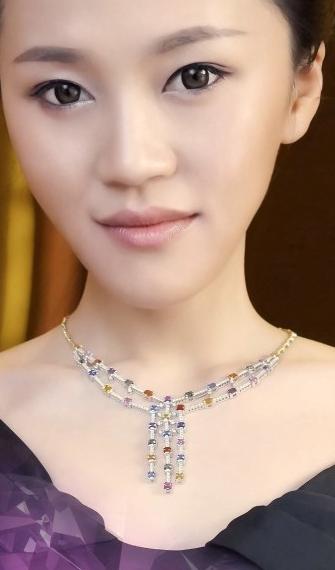 【珠宝首饰】郭露文赴普吉岛为某亚洲珠宝担形象大使