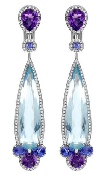 珠宝耳环设计手绘稿