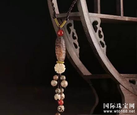 天珠颈链编法图解法