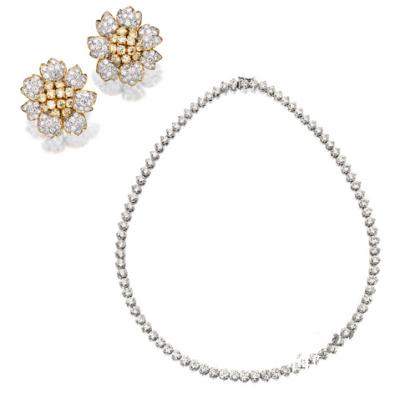 钻石项链&黄钻耳环,18.75万港元成交