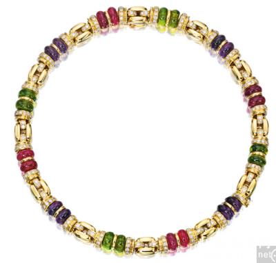 宝石配钻石项链,宝格丽 (Bulgari) ,52.2万港元成交