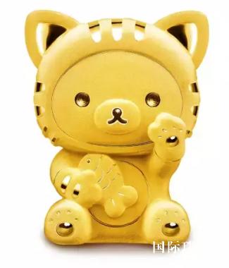 rilakkuma™「轻松小熊™」系列黄金饰品