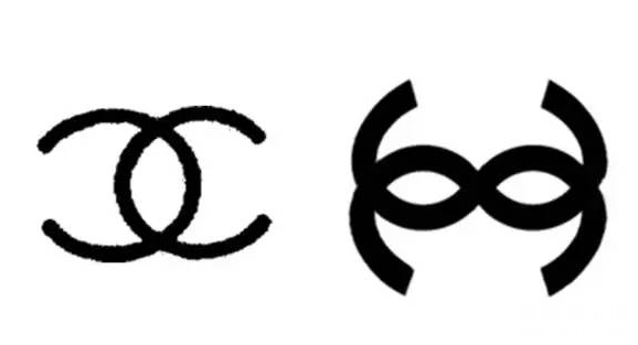 "图片:图左chanel ""双c""logo, 图右 golden rose 999 srl ""双s""logo &"
